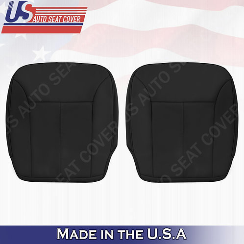 For 2007-2012 Mercedes Benz GL350 Front Bottoms Leather Seat Cover Black