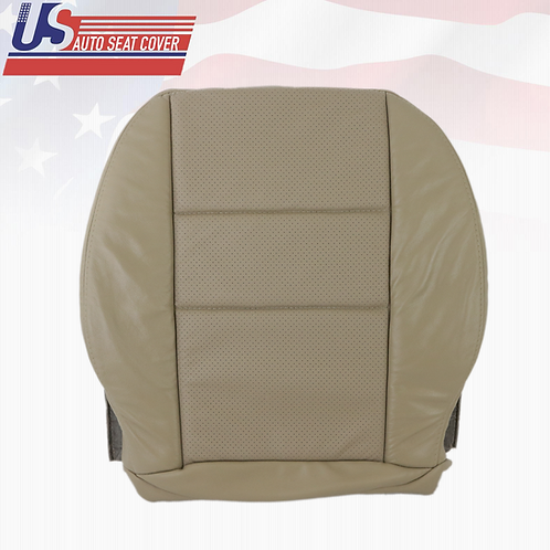 For 2008-2014 Mercedes Benz C300 Driver Bottom Perf. Leather Seat Cover Beige