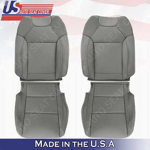 Fits 2014 to 2020 Acura MDX TOPS & BOTTOMS Leather Seat Cover Gray