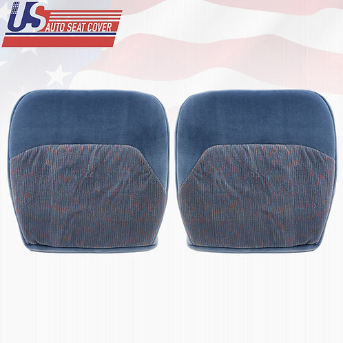 1994-1997 Ford F150 XLT Driver & Passenger Bottom Cloth Seat Cover In Blue