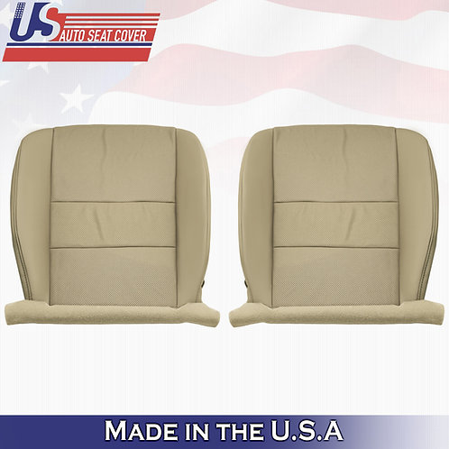 For 2009 to 2014 Acura TSX Front Bottoms Perforated Leather Seat Cover Tan