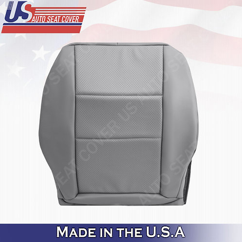 Fits 2008-2014 Mercedes Benz C250 C300 Passenger Bottom Perf. Leather Cover Gray
