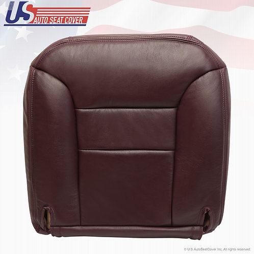 1995-1996 Chevy Tahoe Suburban Driver Side Leather Bottom Seat Cover Ruby Red