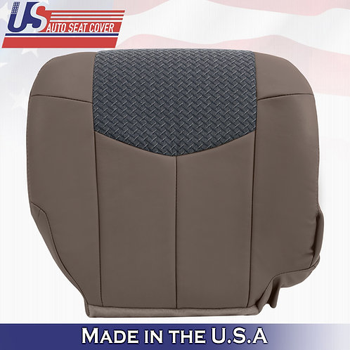 2002 Chevy Avalanche 1500 2500 Passenger Bottom Leather w/Cloth TAN seat cover