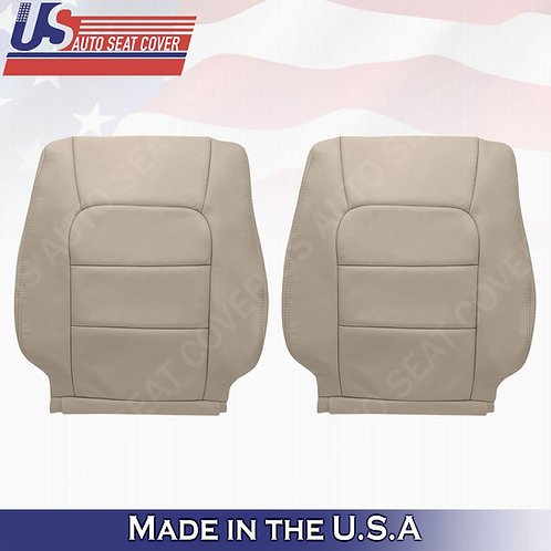 For 1998-2007 Lexus Lx470 Driver & Passenger Top Leather Seat Cover Tan