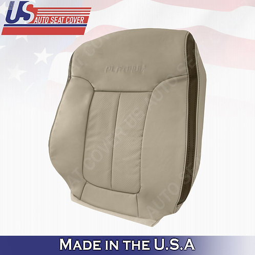 2009 2010 Ford F150 Platinum Passenger Top Perforated Leather Cover Med. Stone G