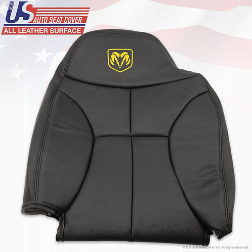 1998-2000 Dodge Ram 5800 Passenger Top Leather Seat cover Black