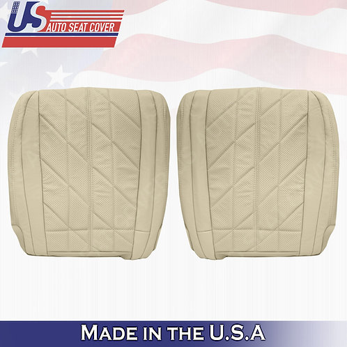 For 2009-2017 Infinity FX35 FX37 FX50 Front Bottoms Perforated Leather Cover Tan