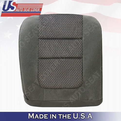2001 Ford F-250 XLT Crew-Cab PASSENGER Bottom Cloth Seat Cover Gray