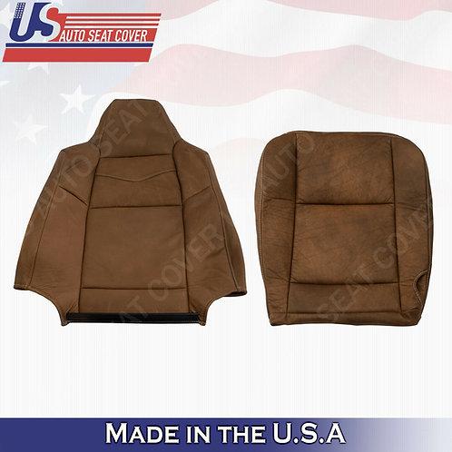 2003 - 2007 Ford F250 F350 450 KING RANCH Front Top/bottom Leather Seat Cover