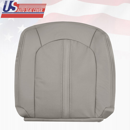 2008-2013 Cadillac CTS Driver Bottom Leather Seat Cover in Gray (PERFORATED)