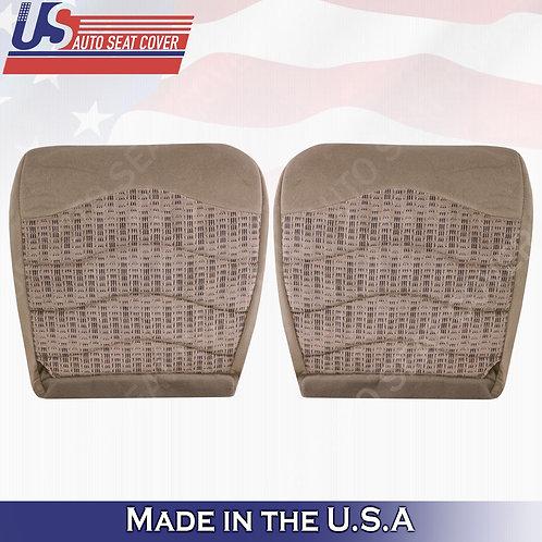 1999-2000 Ford F250 F350 F450 XLT Driver & Passenger Bottom Cloth Seat Cover Tan
