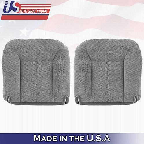 1995-1999 GMC Sierra Driver & Passenger Bottom Cloth in Gray Seat Cover