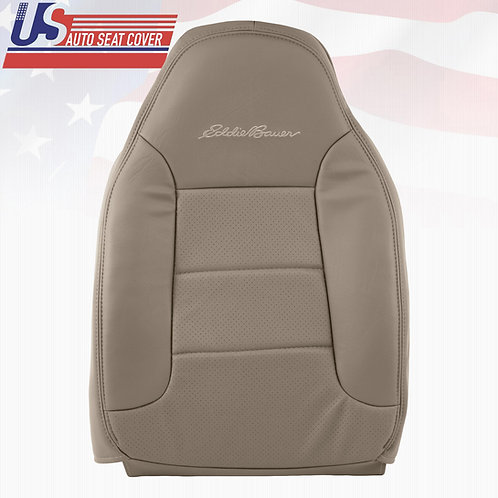 1992-1996 Ford Bronco Eddie Bauer Driver Top Lean Back Seat Cover Med. Mocha Tan
