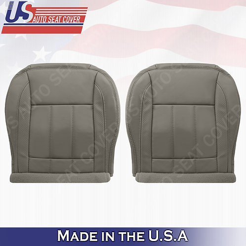 2006-2009 Dodge Ram Laramie 1500 Bottoms Leather Seat Cover in Khaki