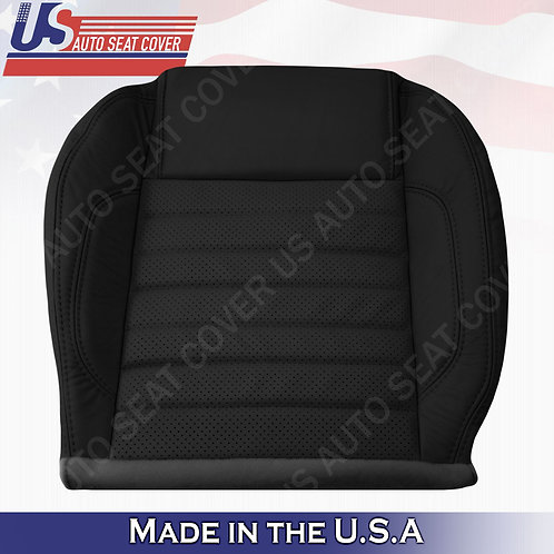 2010 to 2014 Ford Mustang GT Driver Bottom Perforated Leather Seat Cover Black