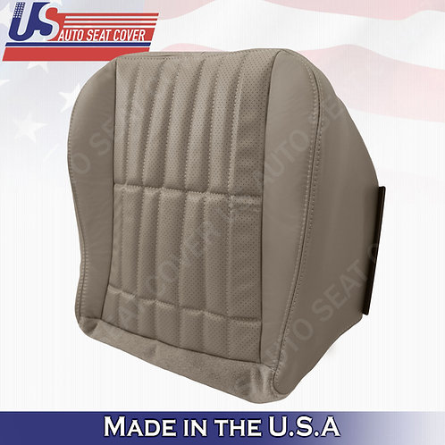 1997 - 2002 Chevy Camaro SS Passenger Bottom Perforated Leather Seat Cover Tan