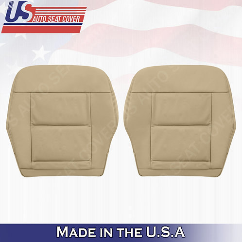 For 2010-2014 Mercedes Benz E350 Front Bottoms Perforated leather seat cover Tan