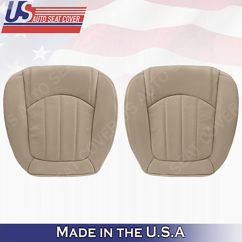 2008 -2012 Buick Enclave 1XL Front Lower Set Perforated Leather Seat Cover Tan