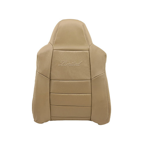 2002-2004 Ford Excursion Limited Driver top Leather Seat Cover Tan