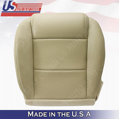 2005-2009 Ford Mustang Coupe V6 Passenger bottom leather seat cover Tan