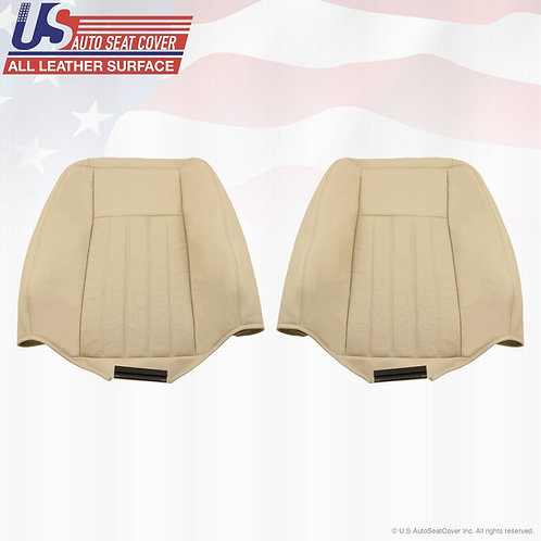 2005 2006 Lincoln Navigator Driver & Passenger top Perf. Leather Seat Cover TAN
