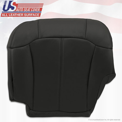 2000 2001 2002 Chevy 1500 2500 3500 Driver Bottom Leather-Seat Cover graphite