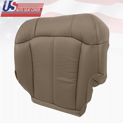 1999-2002 Chevy Silverado passenger bottom leather seat cover Med Neutral Tan