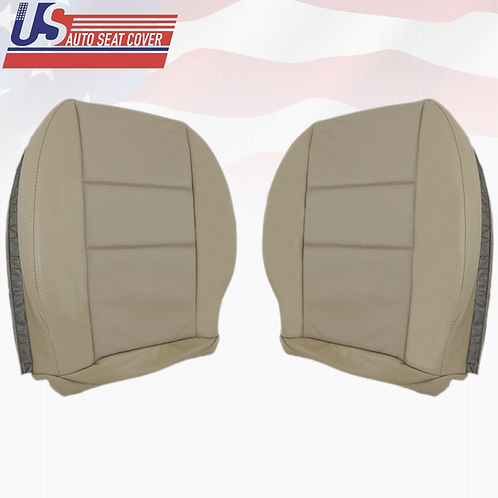 For 2008-2014 Mercedes Benz C350 DRIVER PASSENGER BOTTOM Perf. Leather Beige