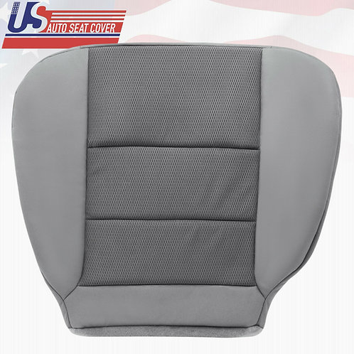 2003-2007 Ford F250 EXTENDED CAB Driver Bottom Seat Cover Cloth Gray 2-tone