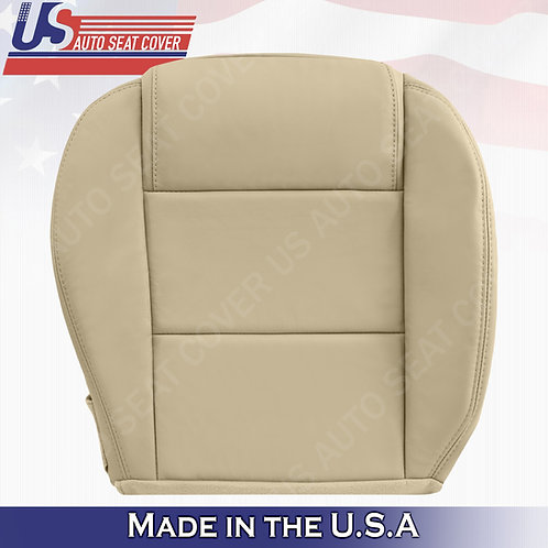 2005-2009 Ford Mustang Passenger Bottom Leather Seat Cover in Tan