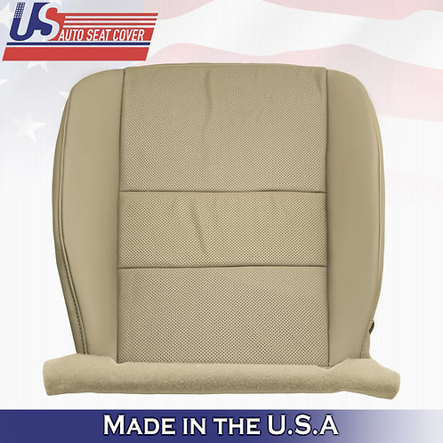 For 2009-2014 Acura TSX Passenger Bottom Perforated Leather Seat Cover Tan