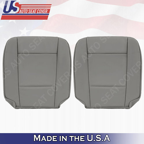 Fits 2002 to 2006 BMW 5 Series Driver & Passenger Bottom Leather Seat Cover Gray