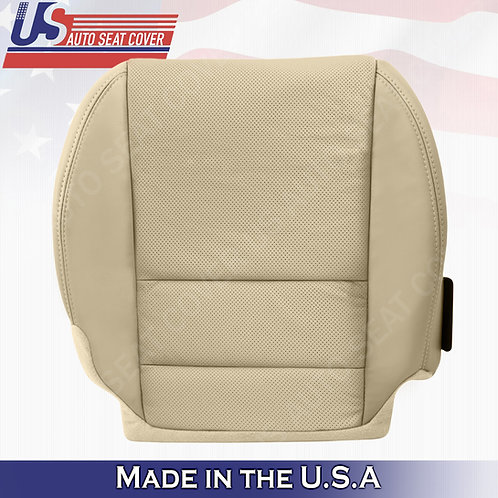 For 2007-2012 Acura MDX Passenger Bottom Perforated Leather Seat Cover Tan