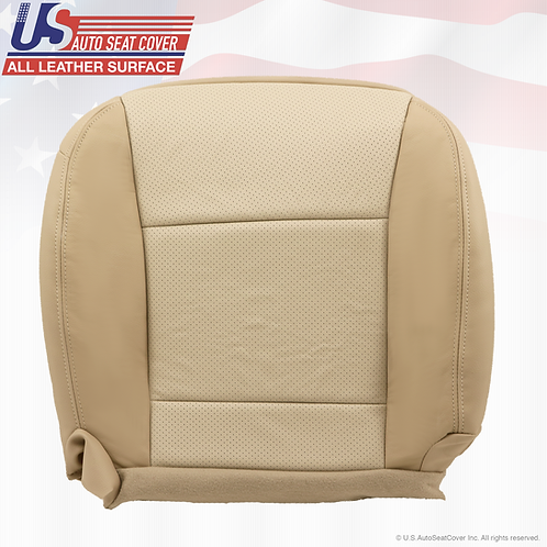 2009 2010 Ford Explorer Driver Side Bottom Leather Seat Cover Two-Tone Tan