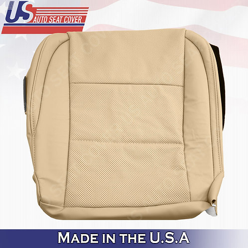 For 2013 to 2017 Lexus ES350 Driver Bottom Leather Perforated Seat Cover in Tan