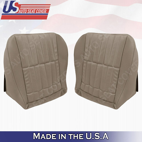 1997 - 2002 Chevy Camaro SS Driver Passenger Bottom Perf Leather Seat Cover Tan