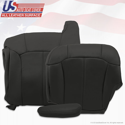 1999-2002 Chevy Tahoe Suburban leather seat cover Top Bottom Armrest Graphite