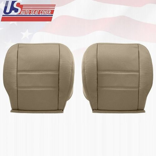 2001-2004 Nissan Pathfinder Driver Passenger Bottom Perforated Seat Cover Tan