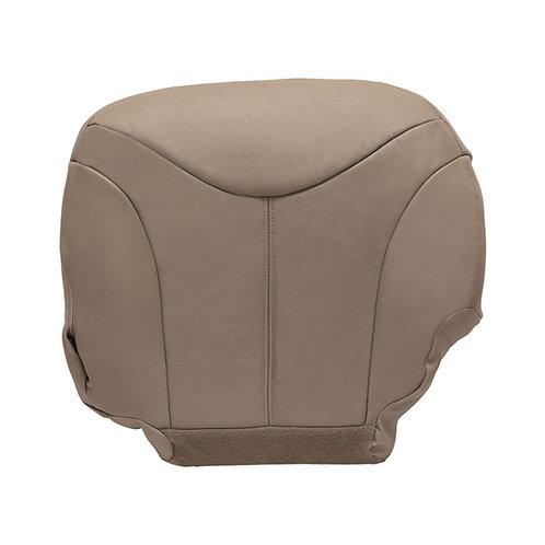 1999-2002 GMC Yukon Neutral Tan Leather Driver Bottom Seat Cover Y-Pattern