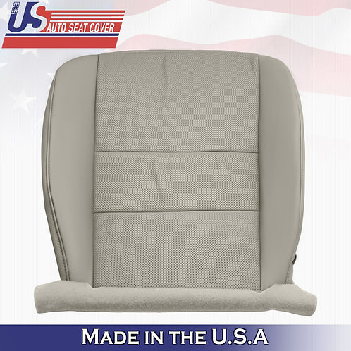 For 2009 to 2014 Acura TSX Passenger Perforated Leather Seat Cover Gray