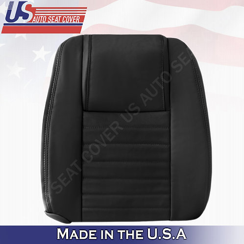 2005-2009 Ford Mustang Passenger Leather Lean Back Cover in Black (PERFORATED)