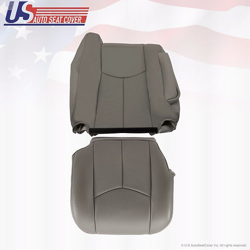 2003 2006 Cadillac Escalade Driver Bottom & Top Leather Seat Cover Gray