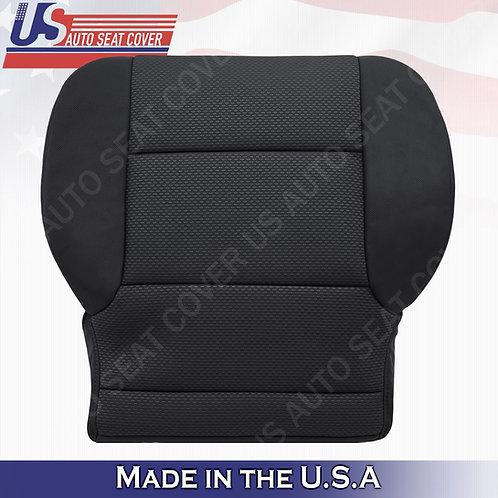 2014- 2018 Chevy Silverado 1500 Driver Bottom Cloth Seat Cover Ebony Black
