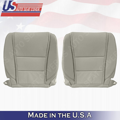 For 2009-2014 Acura TL Base Front Bottom Perforated Leather Seat Cover Gray