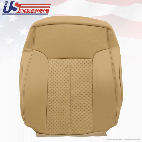 2011-2014 Ford F-250 Lariat Top Passenger leather Perforated seat cover Tan