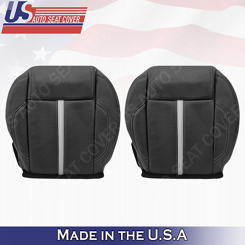 2010-2014 Ford Mustang Gt Driver & Passenger Bottom Leather Seat cover BLACK