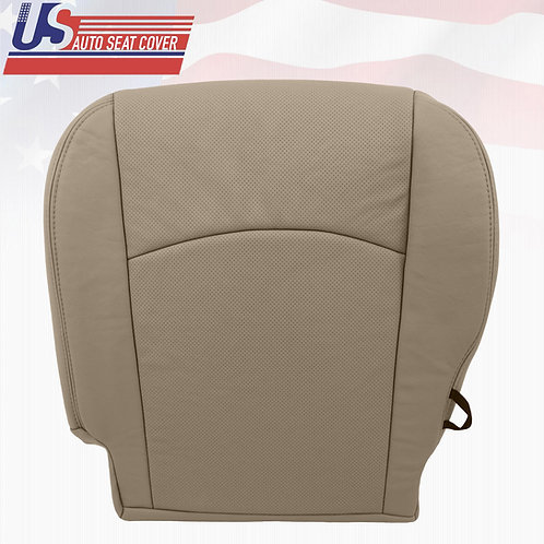 2009-2012 DODGE RAM LARAMIE DRIVER BOTTOM LEATHER PERFORATED SEAT COVER TAN