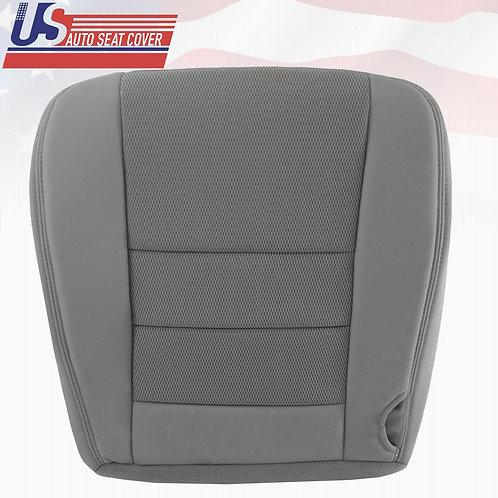 2003 - 2007 Ford F250 F350 F450 F550 Driver Bottom Cloth Seat Cover 2Tone Gray
