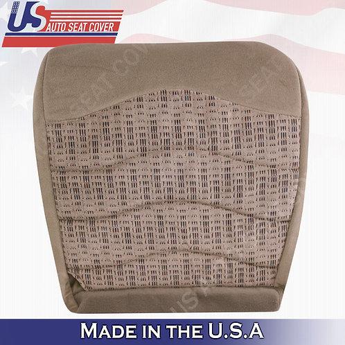 1999-2000 Ford F250 F350 F450 XLT Passenger Bottom Cloth Seat Cover Tan